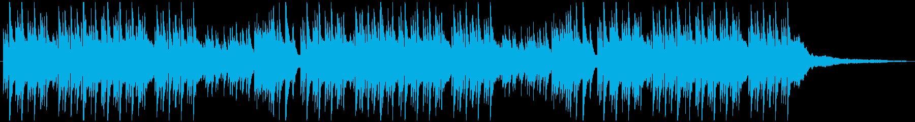 優しい雰囲気のピアノ曲(6/8拍子)の再生済みの波形