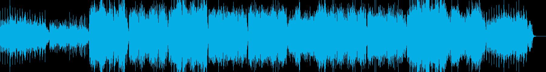 太鼓と尺八を使った軽快なエレクトロニカの再生済みの波形
