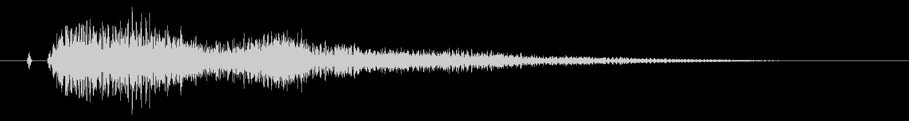 タッチ決定クリック、決定、サウンドロゴ!の未再生の波形