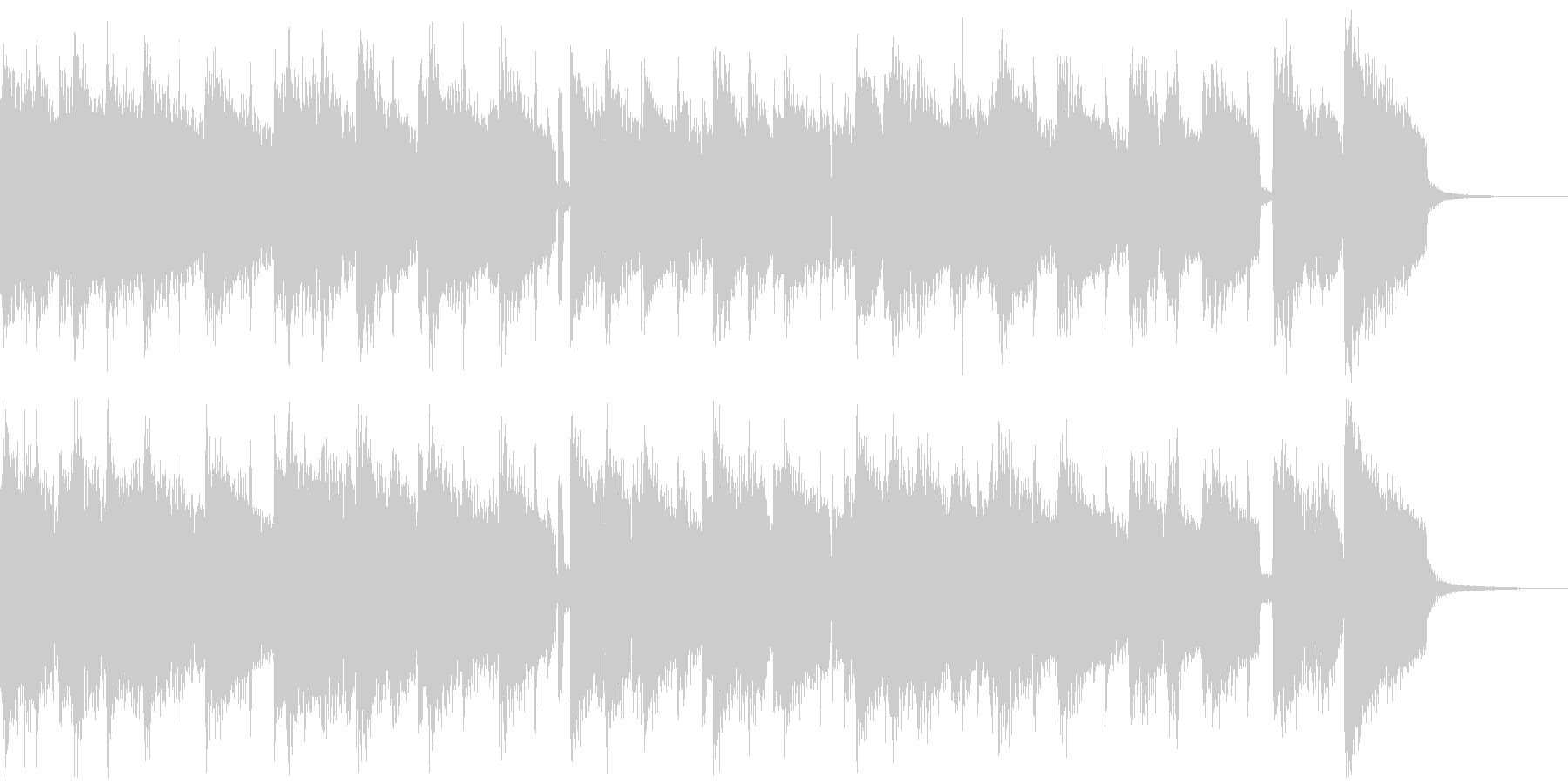 ジングル ピアノとギターのスイングジャズの未再生の波形