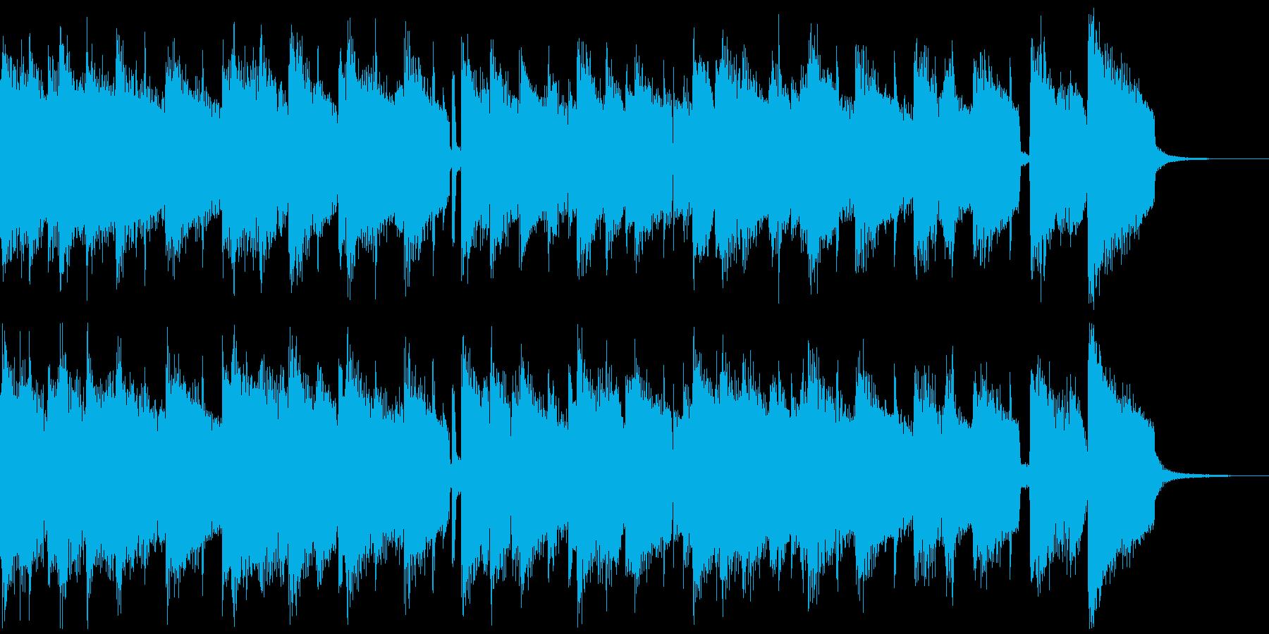 ジングル ピアノとギターのスイングジャズの再生済みの波形