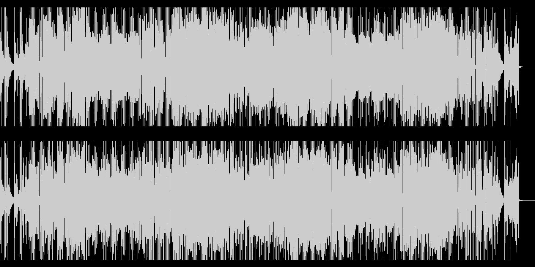 耳に残る印象的なリズムが特徴の曲の未再生の波形