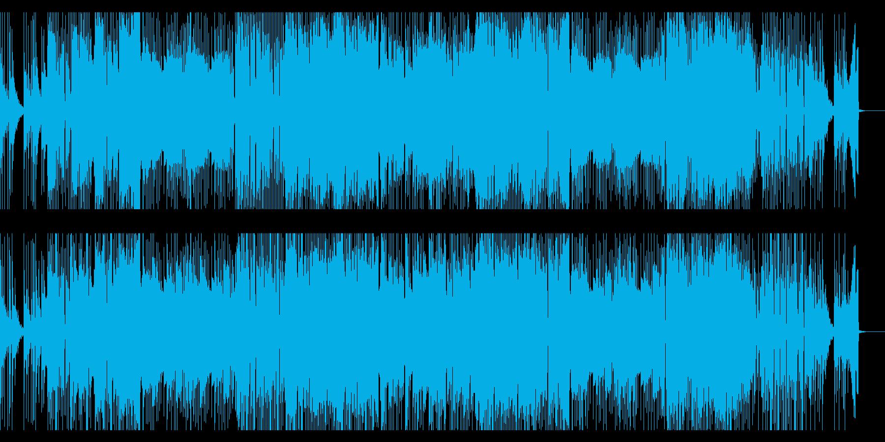耳に残る印象的なリズムが特徴の曲の再生済みの波形
