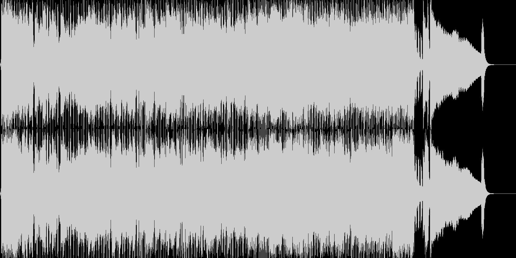 3ピースの生演奏セッションロックブルースの未再生の波形
