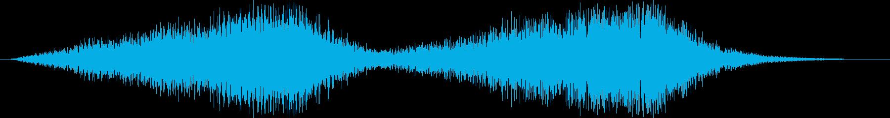 サスペンス的不安感音の再生済みの波形