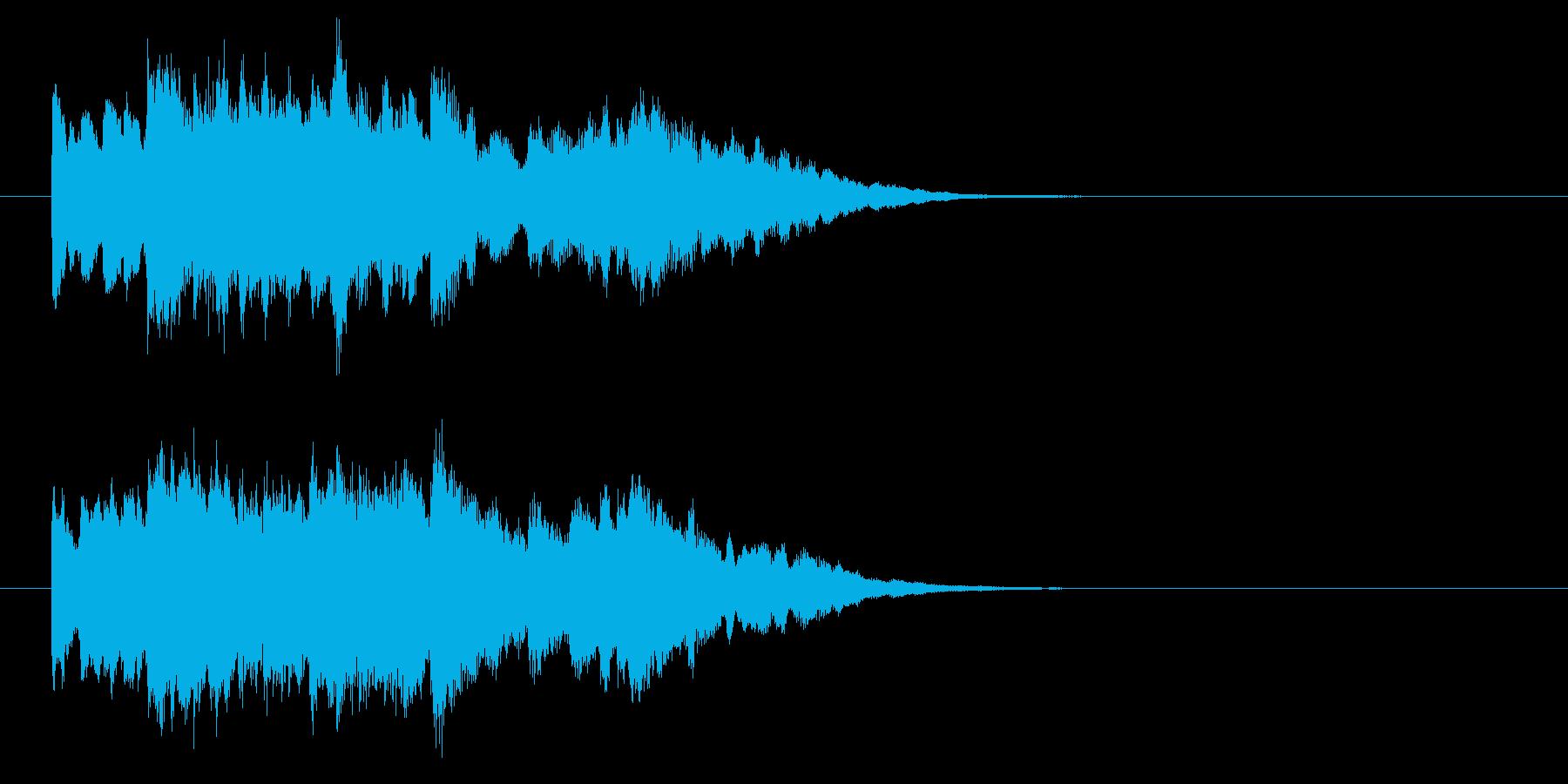 発車メロデイにも使えるロゴ、ジングルですの再生済みの波形