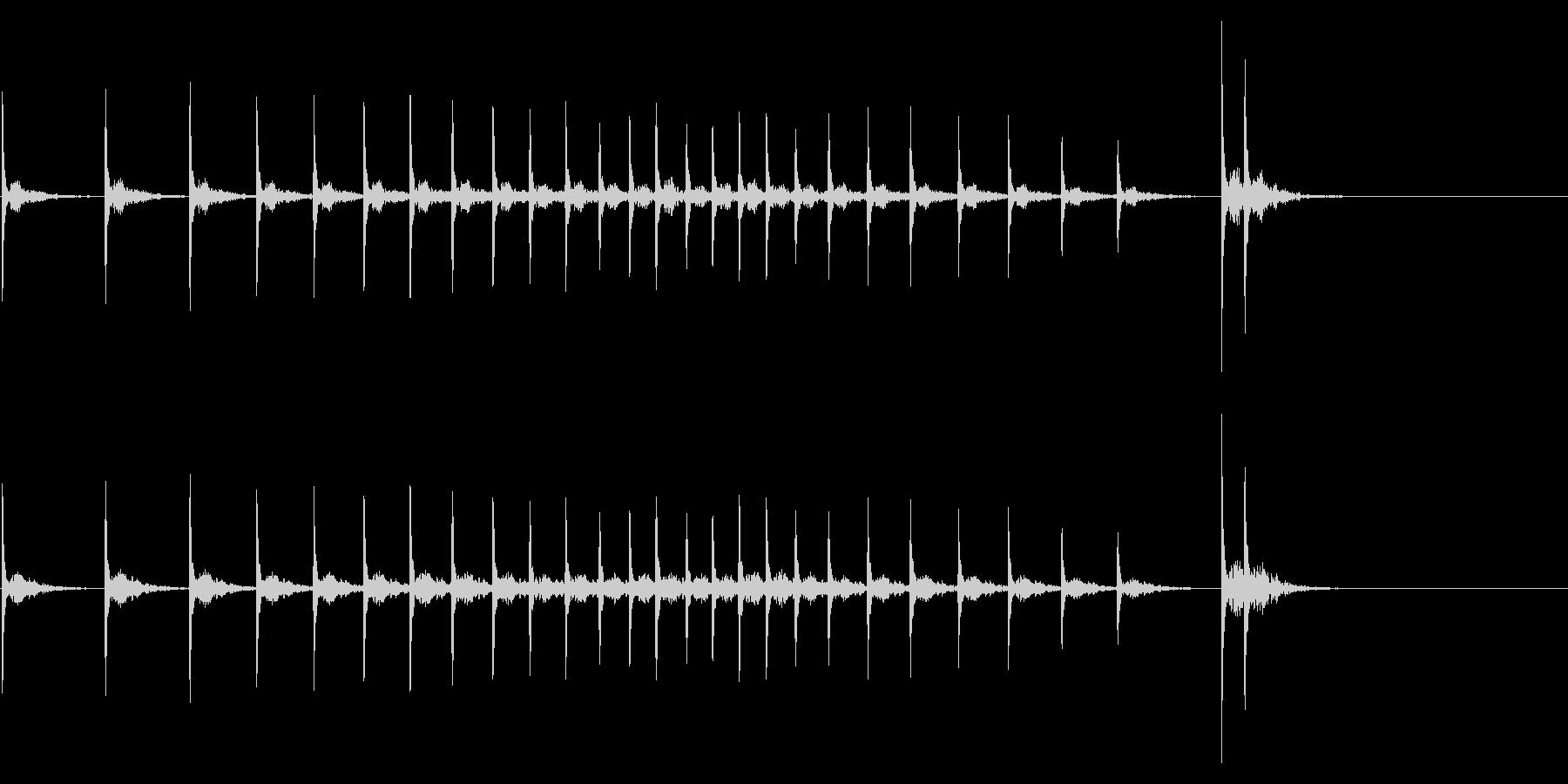 拍子木 歌舞伎調 カンカンカンカンの未再生の波形