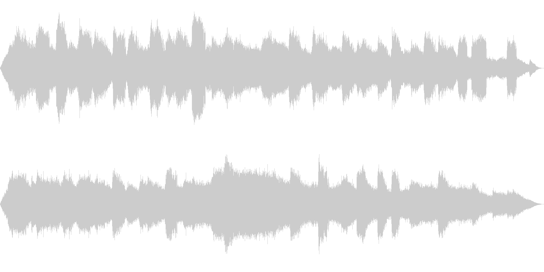 【自然音】蝉(ヒグラシ)の鳴き声02の未再生の波形
