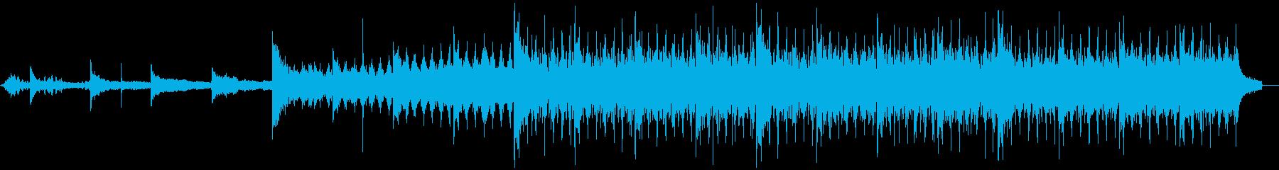 緊張感のあるサウンド ピアノ シンセの再生済みの波形