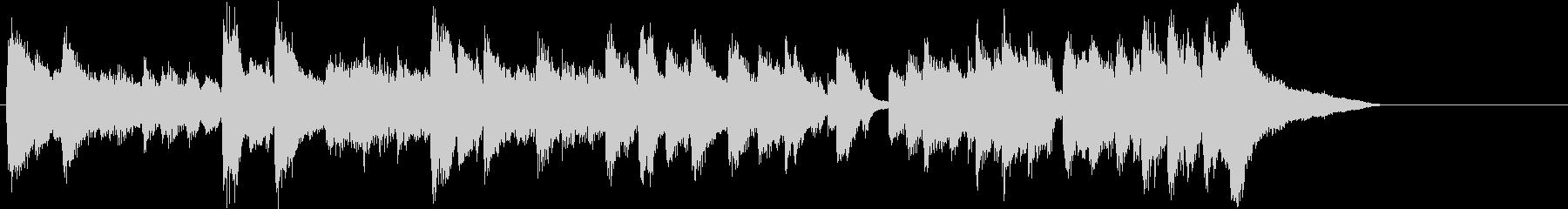 翔け抜けるアップテンポのピアノジングルの未再生の波形
