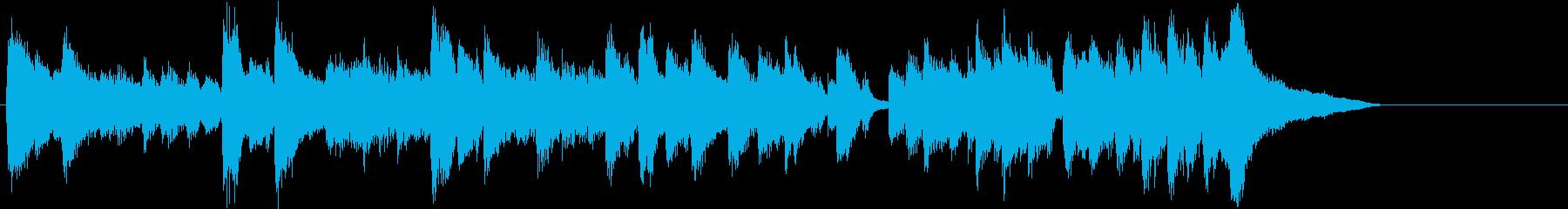 翔け抜けるアップテンポのピアノジングルの再生済みの波形