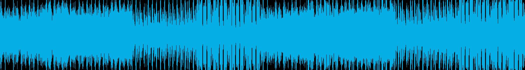 緊張感のあるEDMBGM(ループ向き)の再生済みの波形
