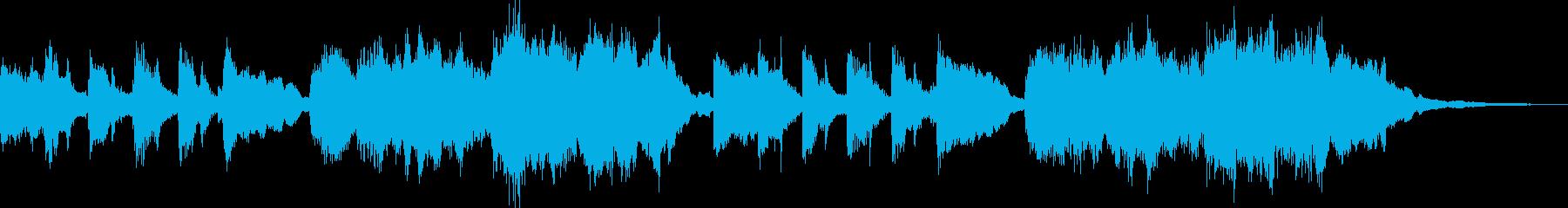ほのぼのとしたオルゴール風ジングルの再生済みの波形