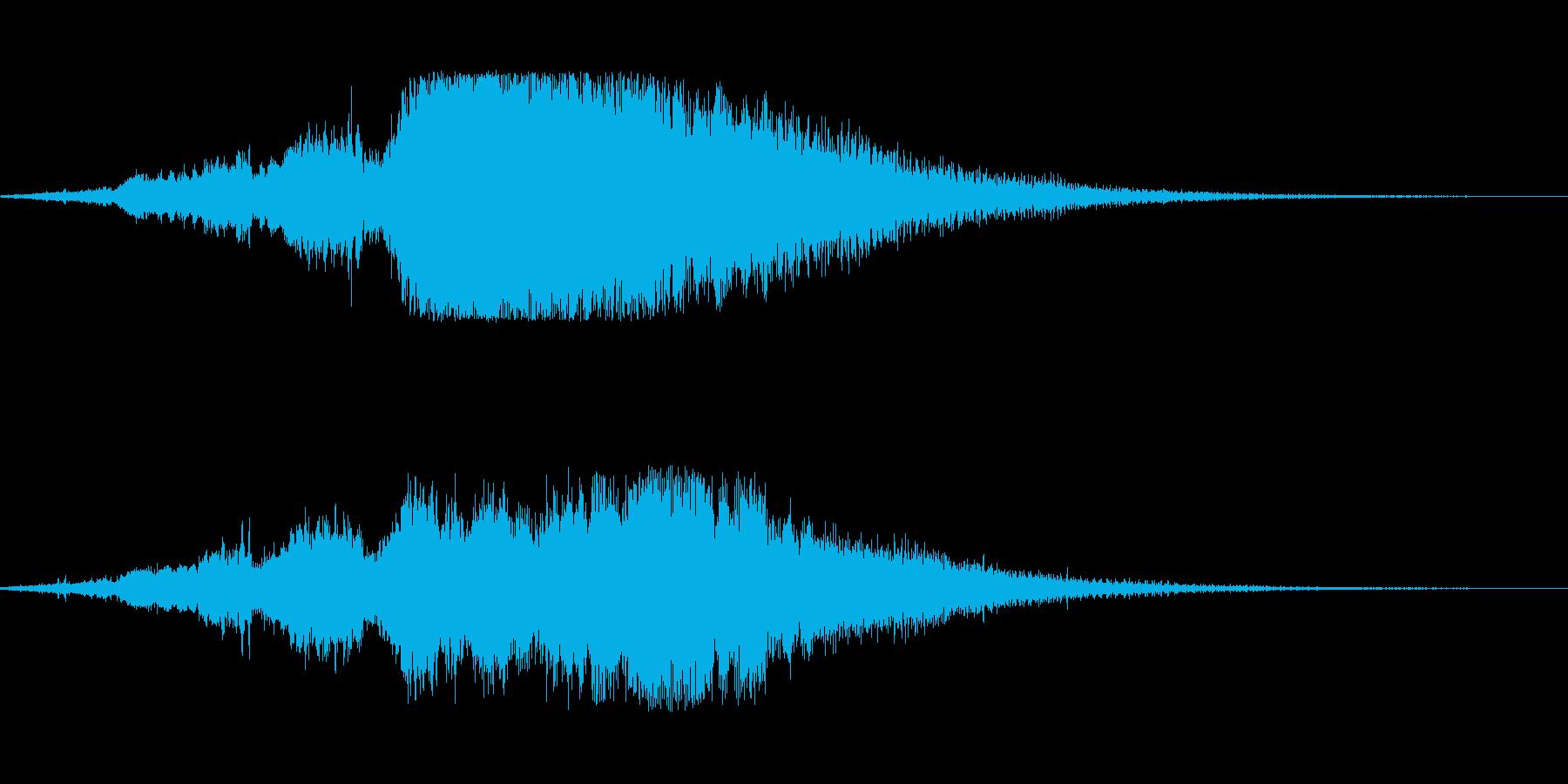 ファンタジーサウンドロゴの再生済みの波形