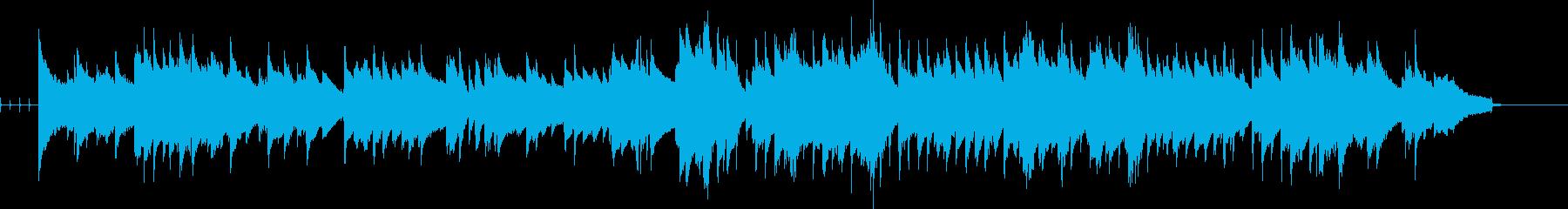 ゆっくりなテンポのジャズっぽい曲の再生済みの波形