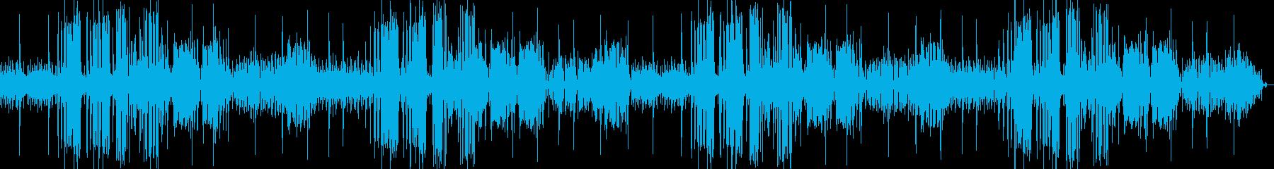 おしゃれなジャズの雰囲気漂うBGMの再生済みの波形