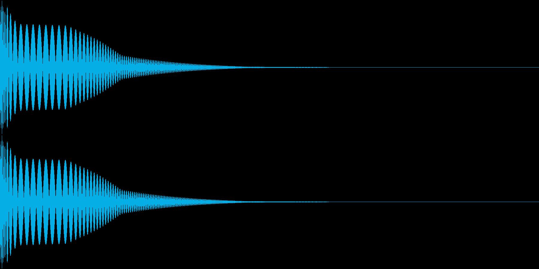 DTM Kick 61 オリジナル音源の再生済みの波形