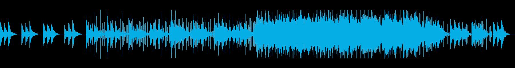 涼しげ可愛いシンセサイザーサウンドの再生済みの波形