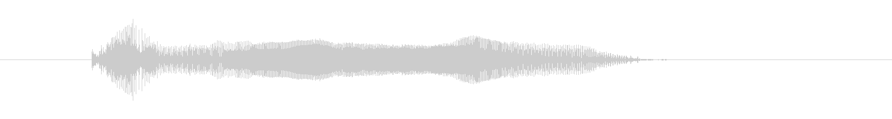 がお〜の未再生の波形