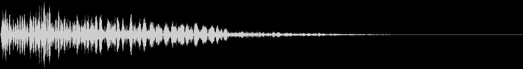ズバン(パンチ・攻撃音・打撃音)の未再生の波形