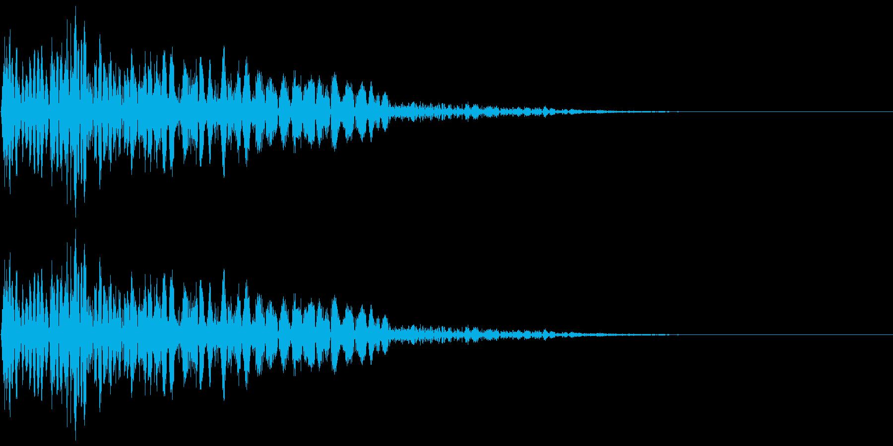 ズバン(パンチ・攻撃音・打撃音)の再生済みの波形