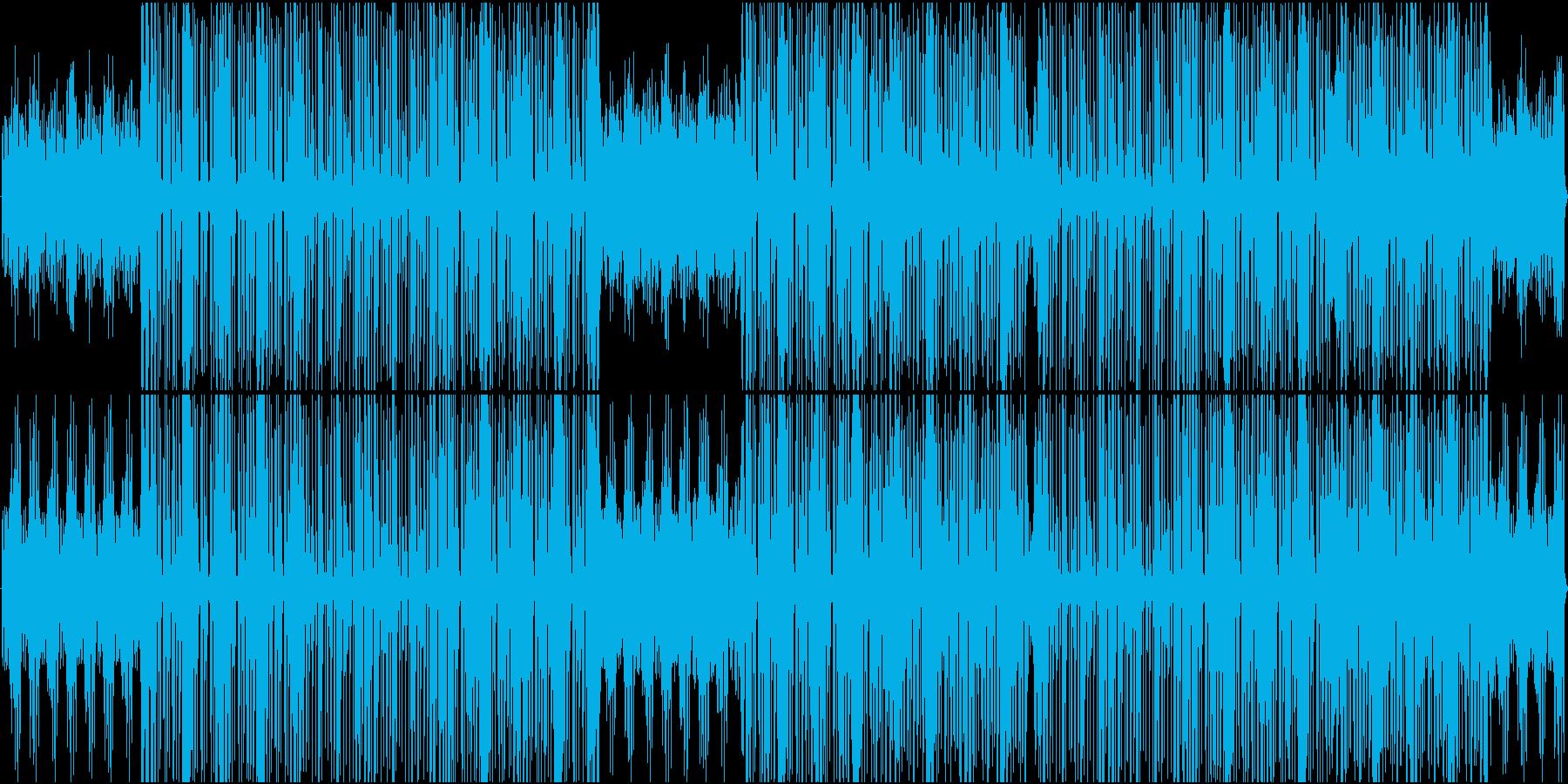 ラテンダンスミュージックの再生済みの波形