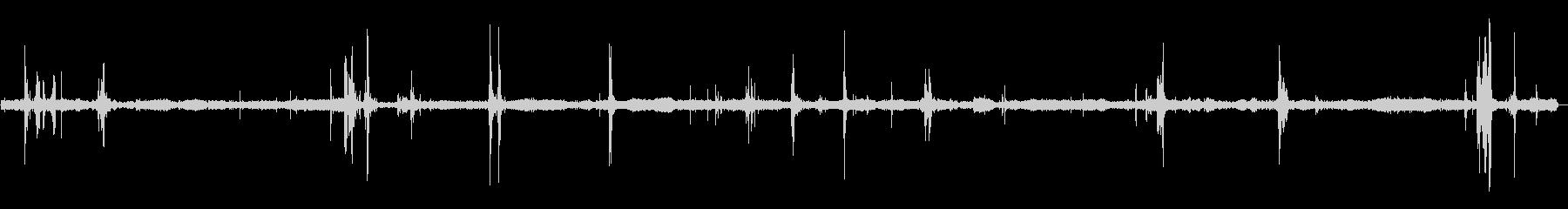 ぬるぬるタコの張り付く音の未再生の波形