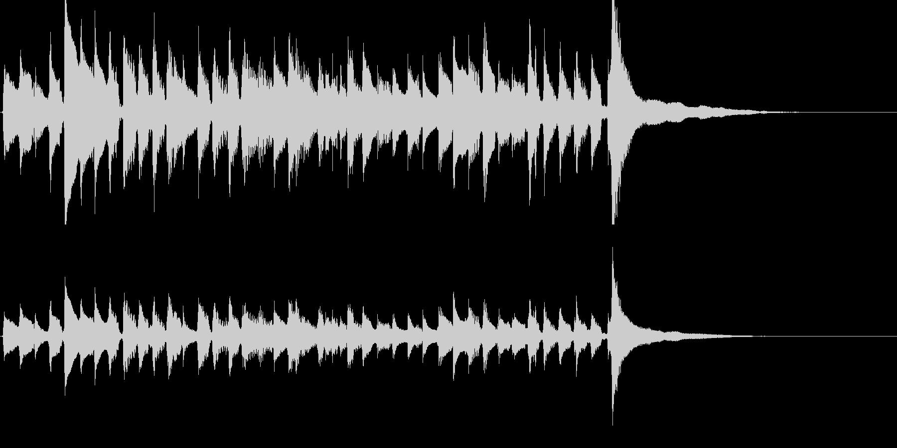 ★アコギのジングル/爽やか重ね録り、生音の未再生の波形