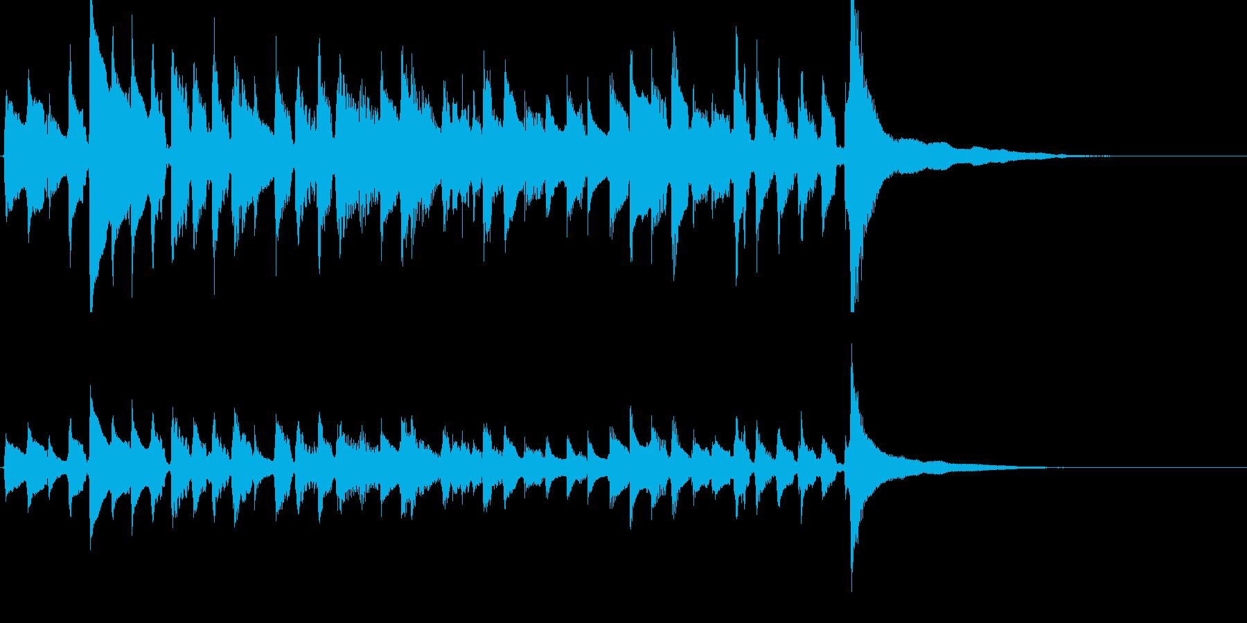★アコギのジングル/爽やか重ね録り、生音の再生済みの波形