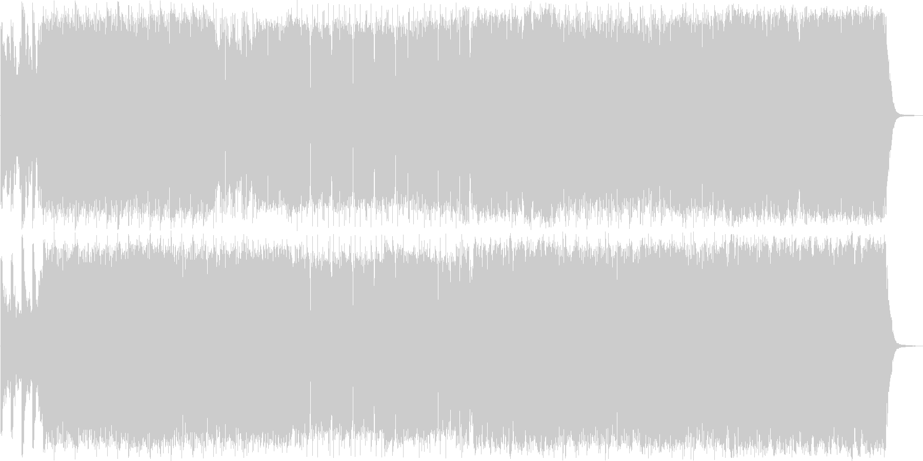 スピード感と鋭さのあるシンセサイザーの未再生の波形
