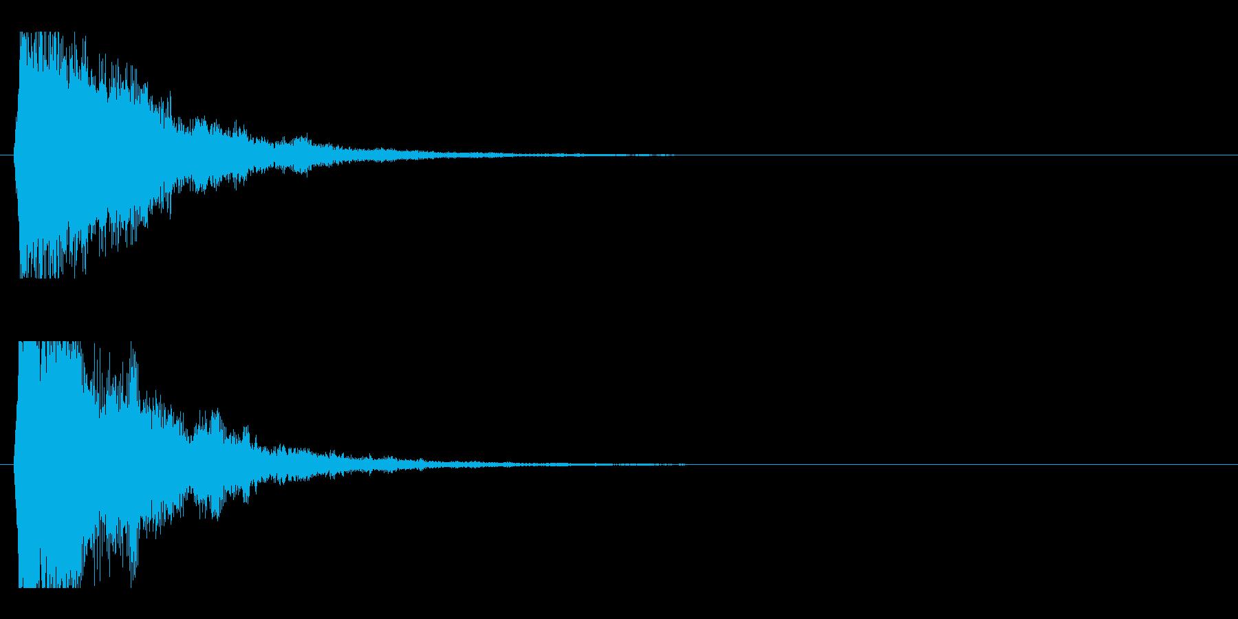 レーザー音-49-2の再生済みの波形