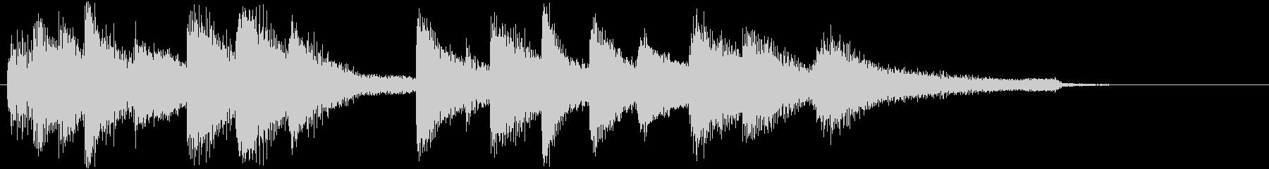 エレガントでおしゃれなピアノジングルの未再生の波形