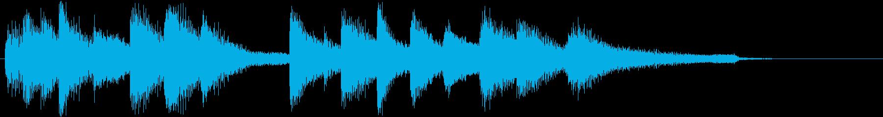 エレガントでおしゃれなピアノジングルの再生済みの波形