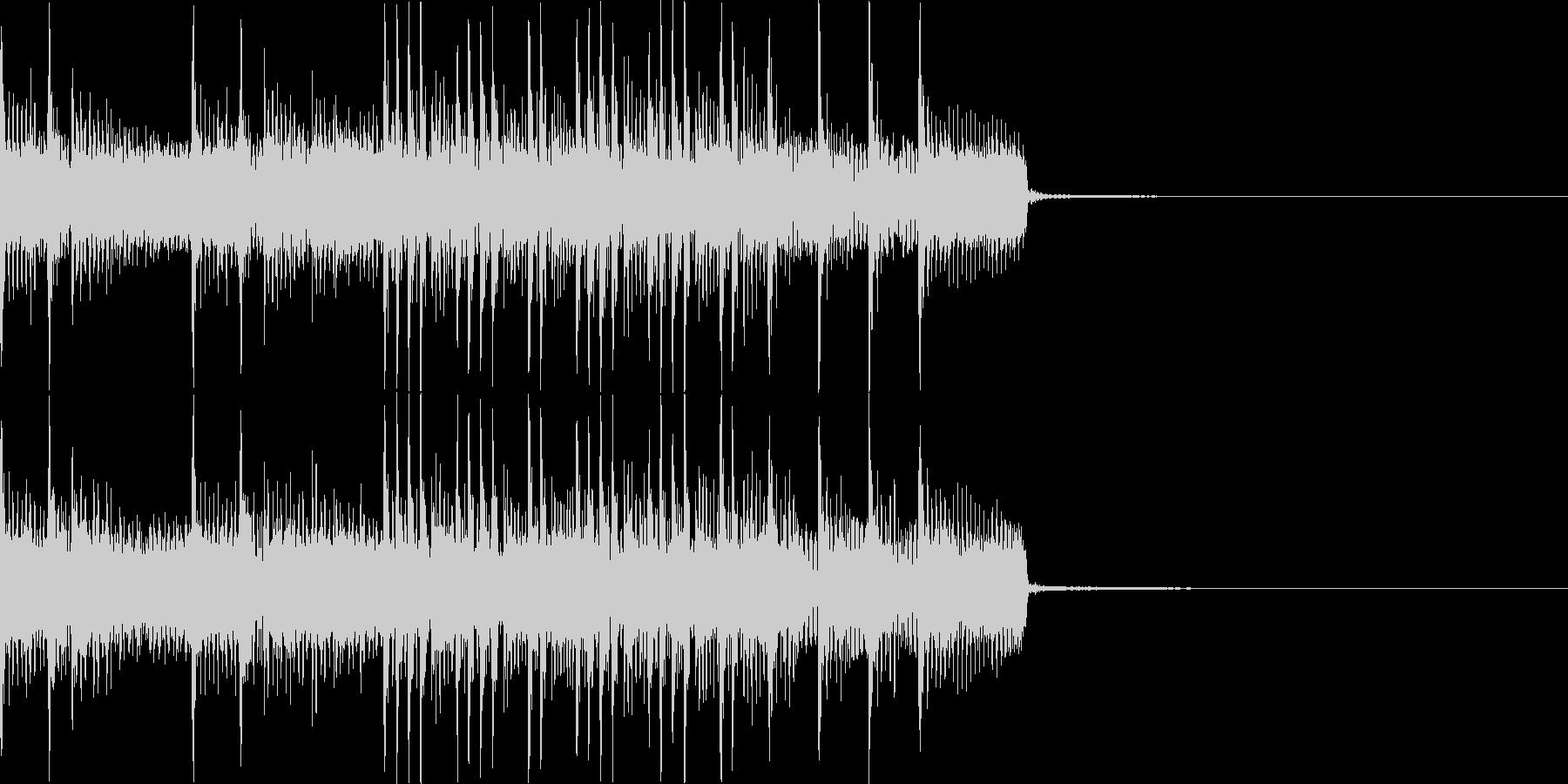 ヘヴィでアグレッシブなジングルその2の未再生の波形
