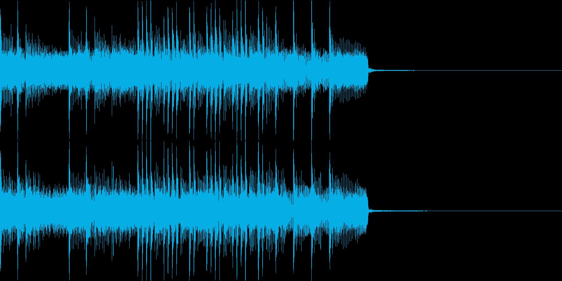 ヘヴィでアグレッシブなジングルその2の再生済みの波形