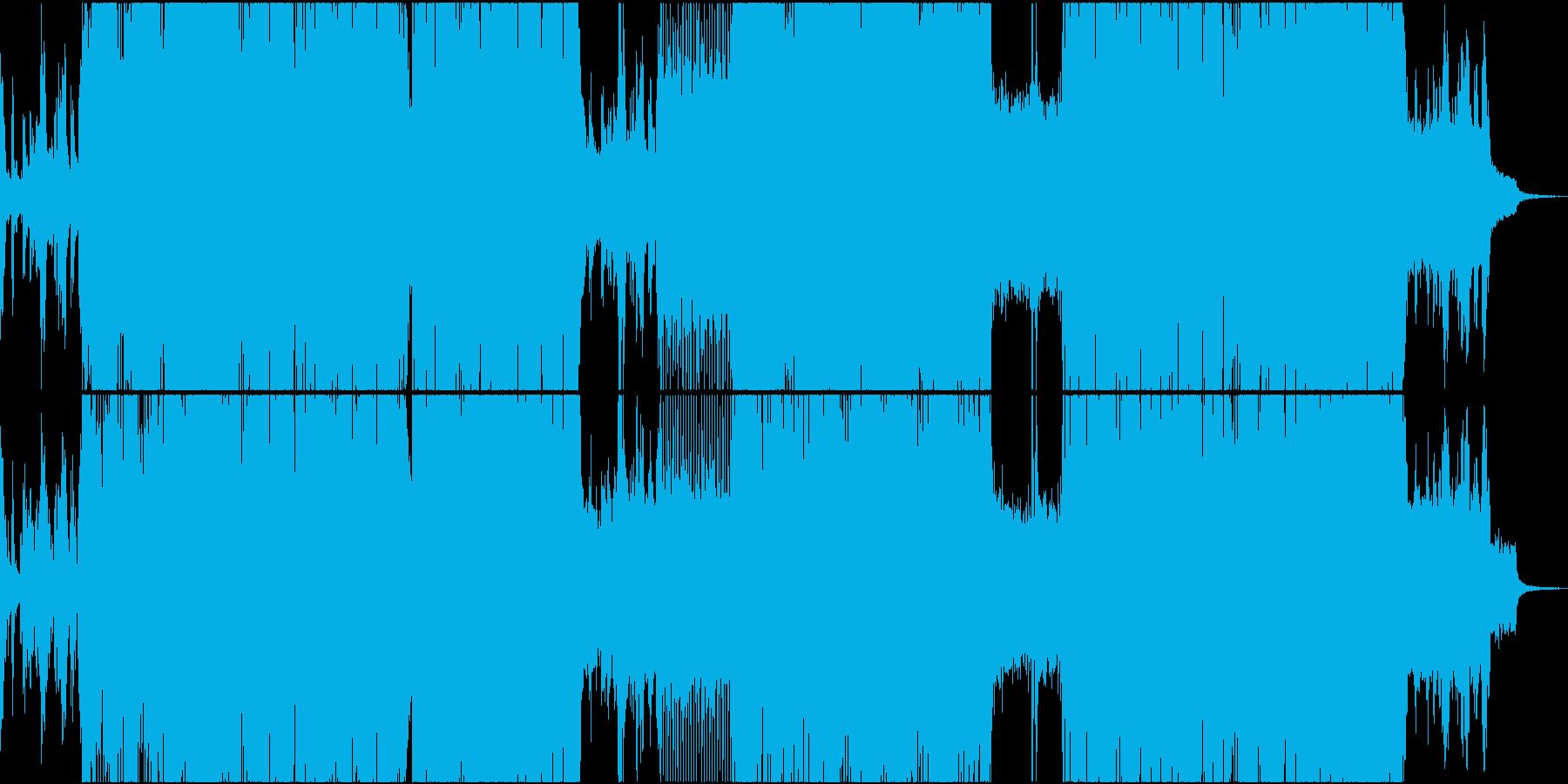 和風のバトル系・疾走感あるロックの再生済みの波形