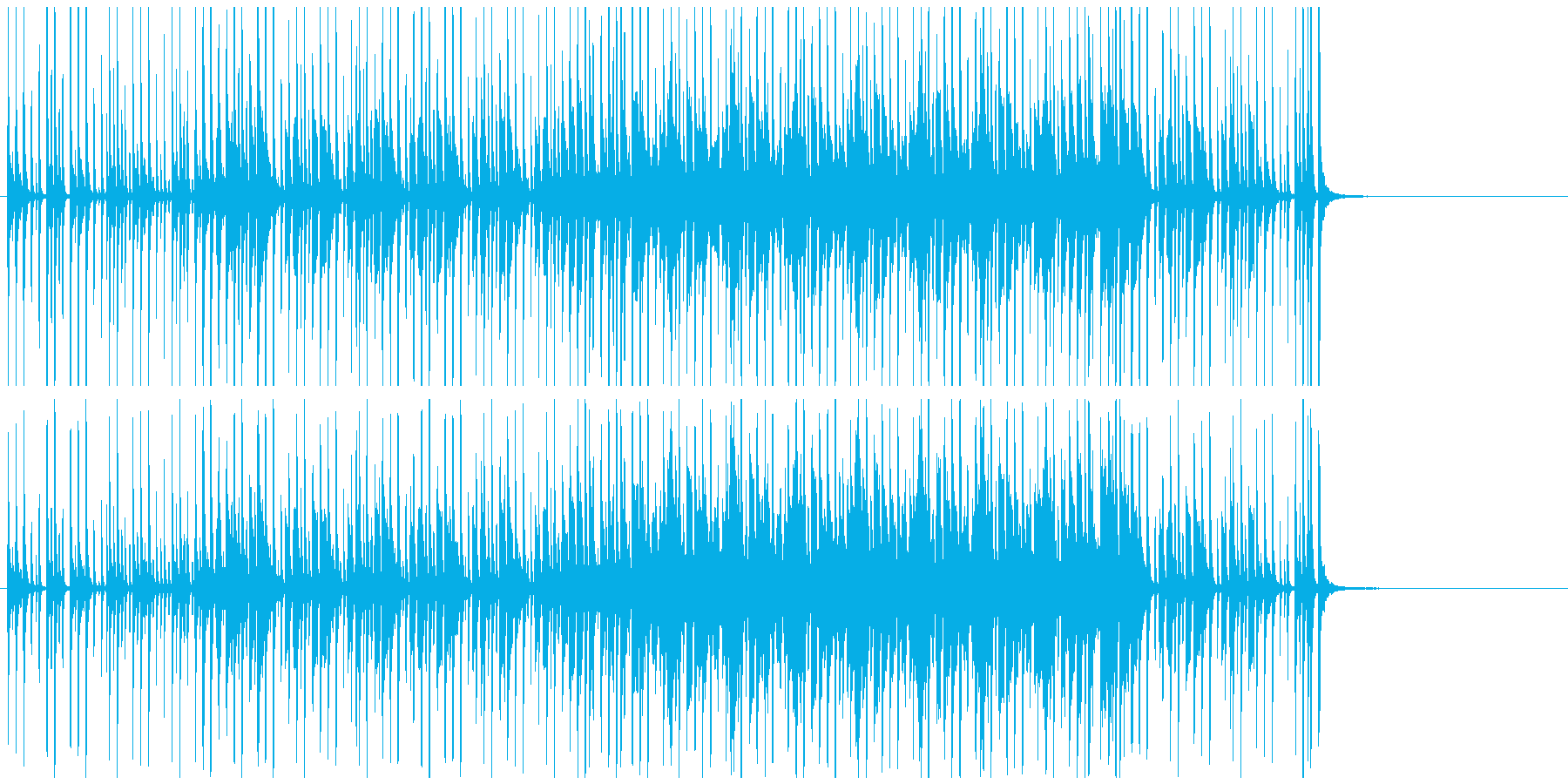 軽快な雰囲気のBGMです。の再生済みの波形