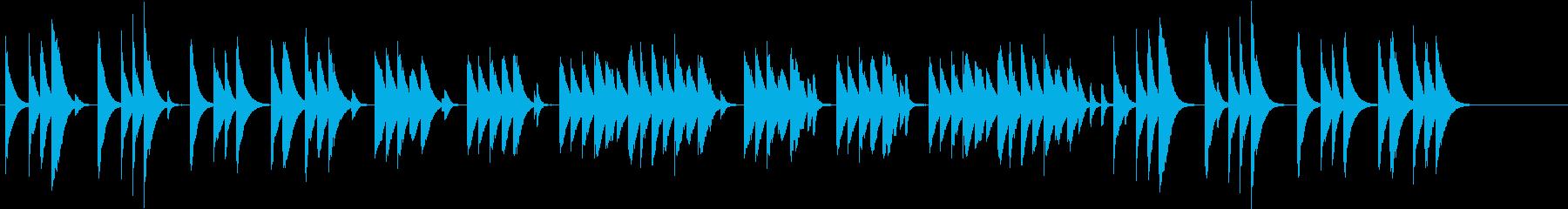 木琴で作ったほのぼのとしたジングルの再生済みの波形