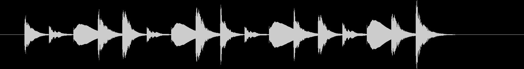 アニメ系ジングル_ほのぼの01の未再生の波形