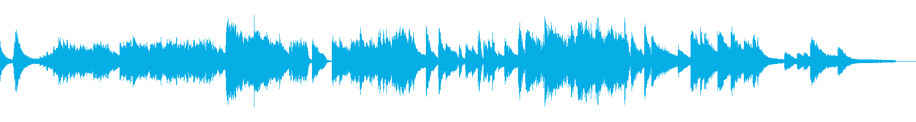 優しくミステリアスなソロジャズピアノの再生済みの波形