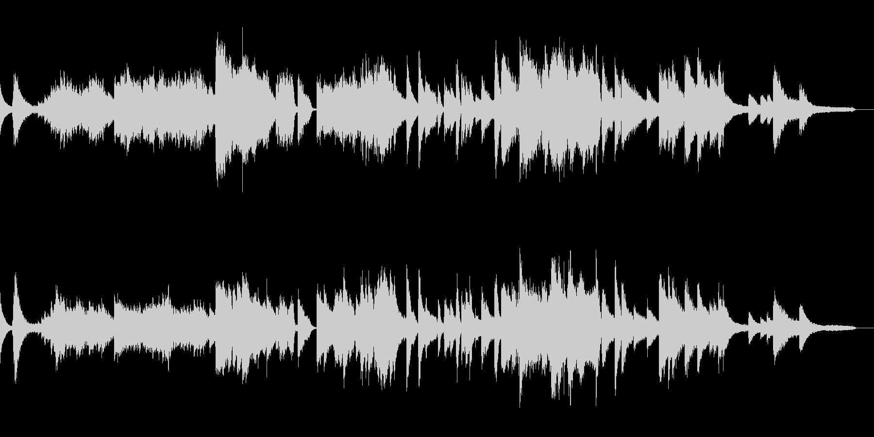 印象的ミステリアスなジャズピアノバラードの未再生の波形
