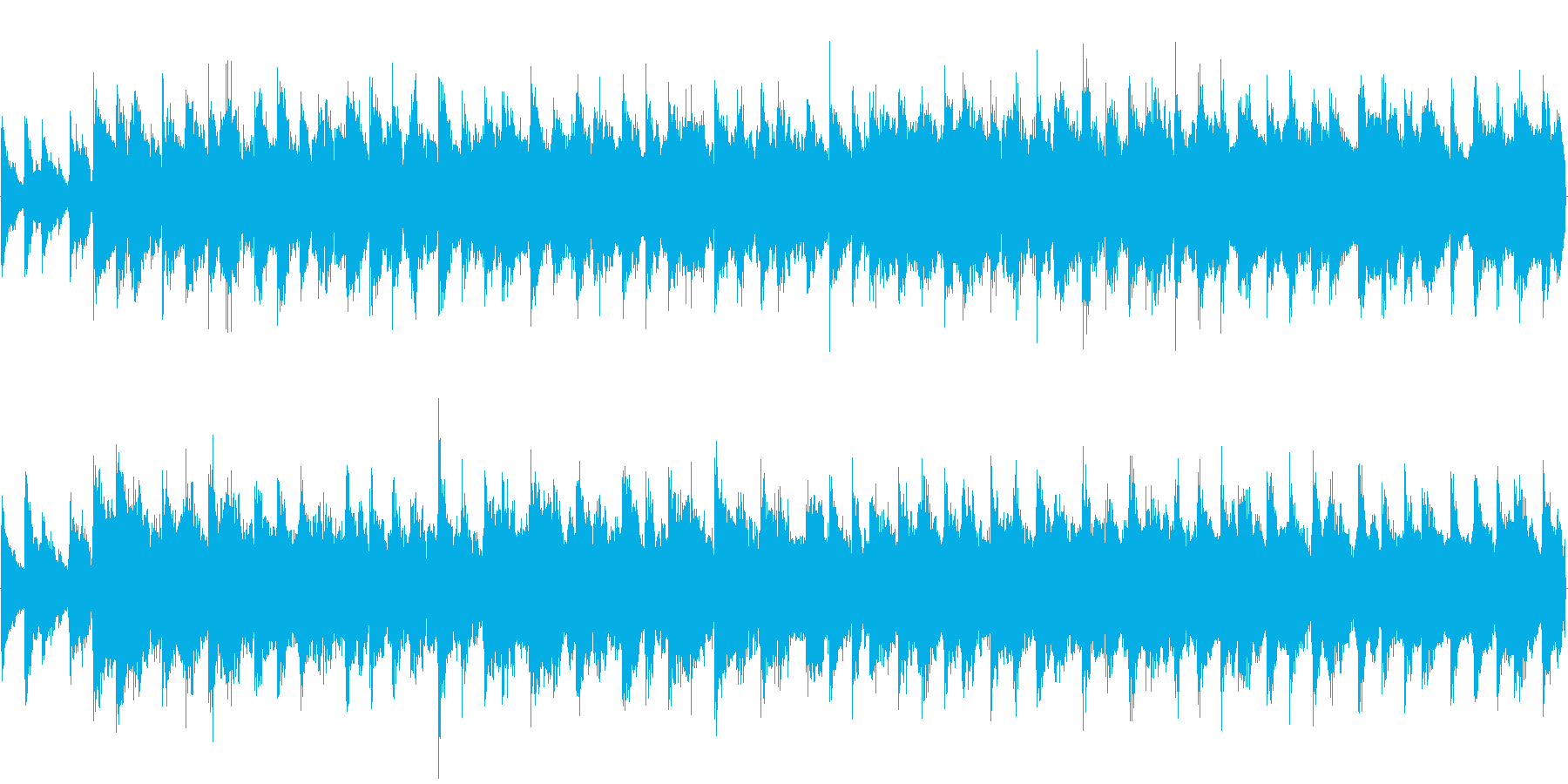 【28秒ループ】ウクレレ+エレクトロ曲の再生済みの波形