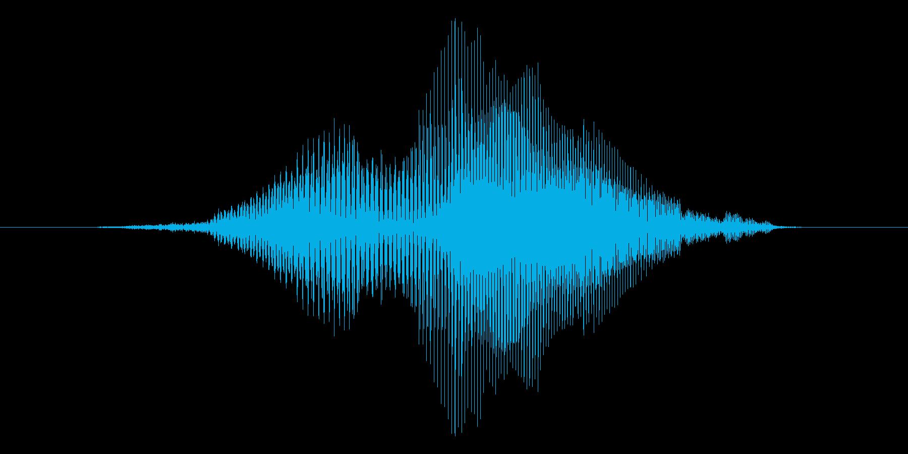 いぇい!【ロリキャラの褒めボイス】の再生済みの波形
