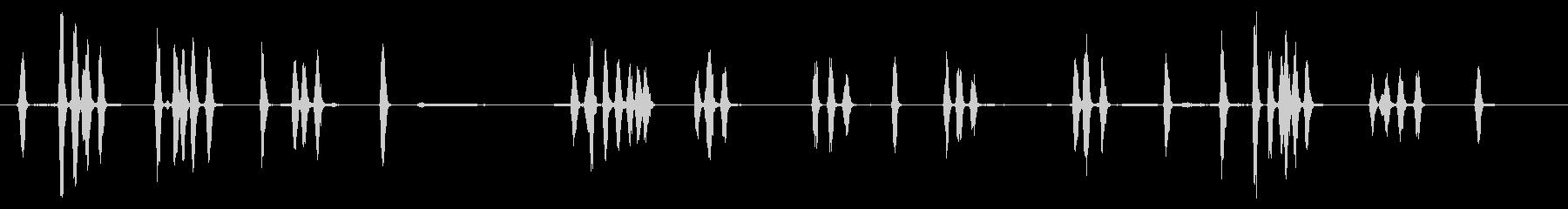 2つの小型犬:Int:一定のBarえ声の未再生の波形