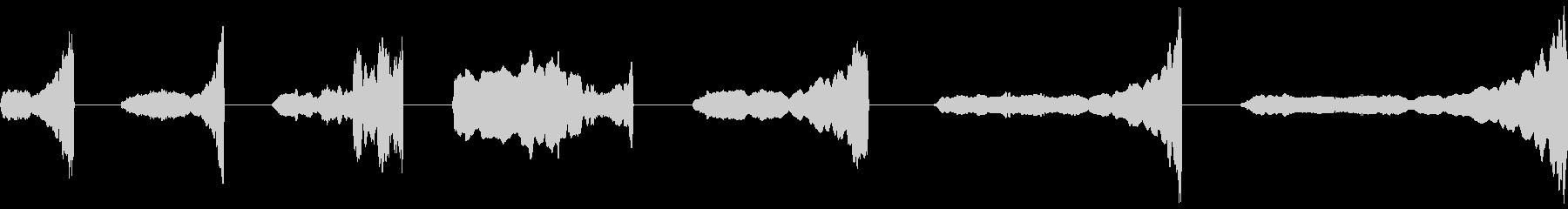 スライドホイッスル、ミッド、アップ...の未再生の波形