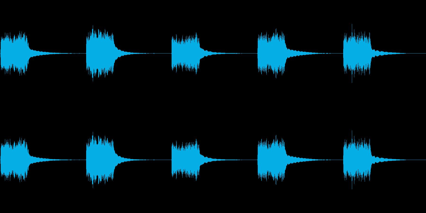 1980年代の電話番号:ベルリングの再生済みの波形
