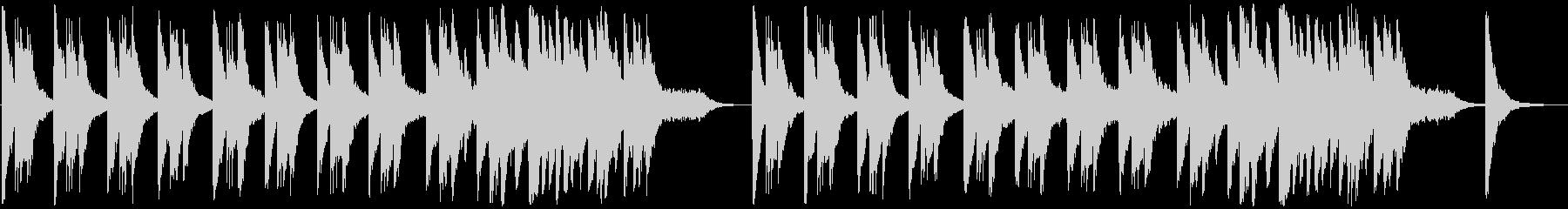 アンビエント 感情的 バラード ピアノの未再生の波形