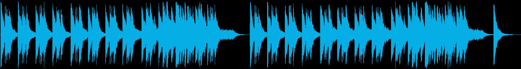 アンビエント 感情的 バラード ピアノの再生済みの波形