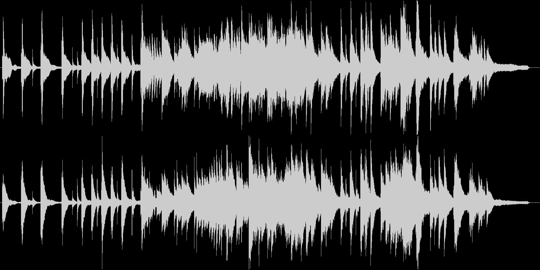 残響のような美しい高音が特徴のピアノ曲の未再生の波形