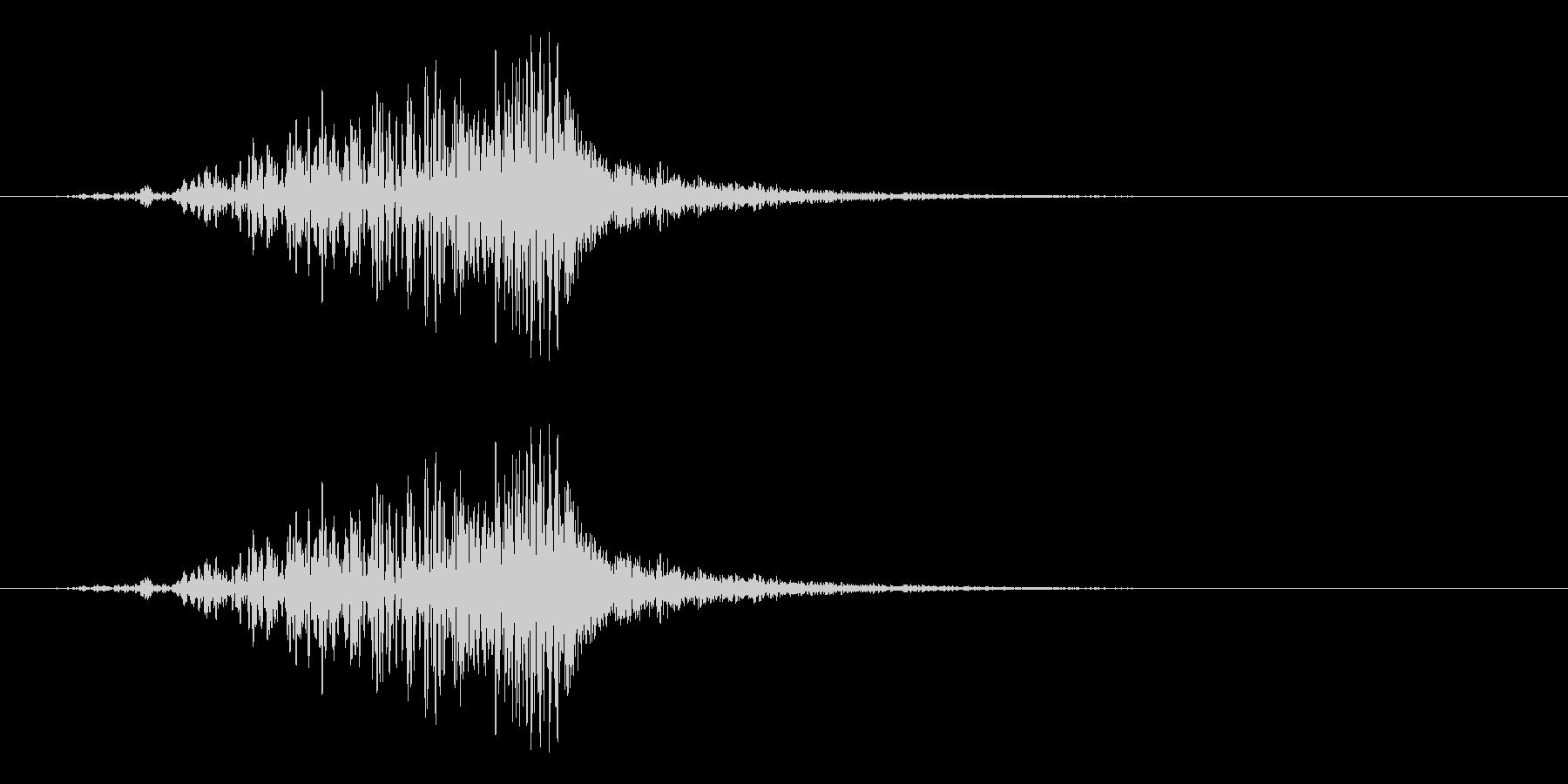 ラティゴ6をシューッという音の未再生の波形